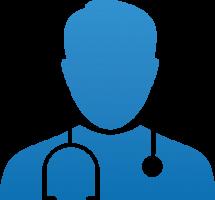 Arzt Vorsorgeuntersuchung für Unternehmen Farbverlauf